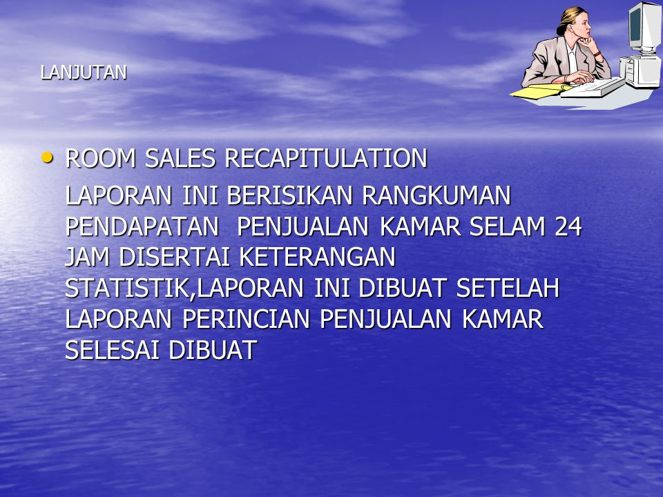 ROOM SALES RECAPITULATION
