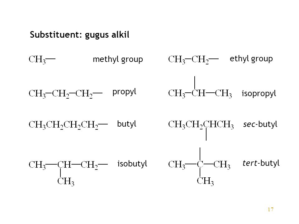 Substituent: gugus alkil