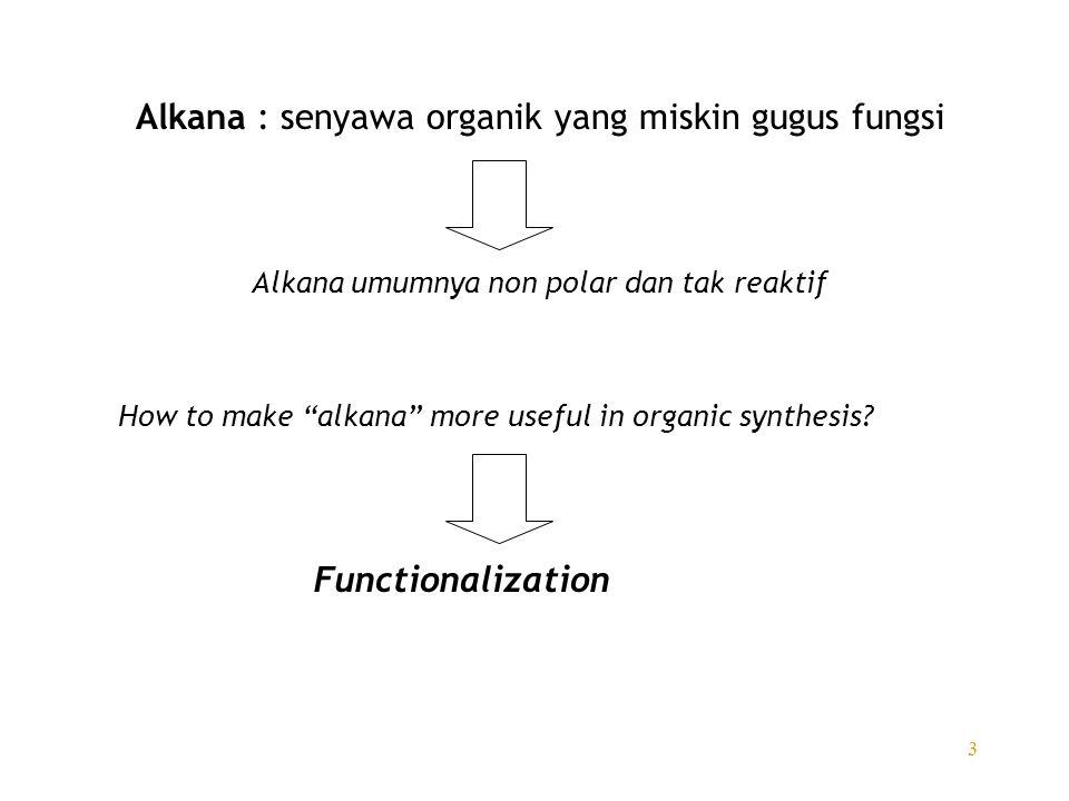 Alkana : senyawa organik yang miskin gugus fungsi