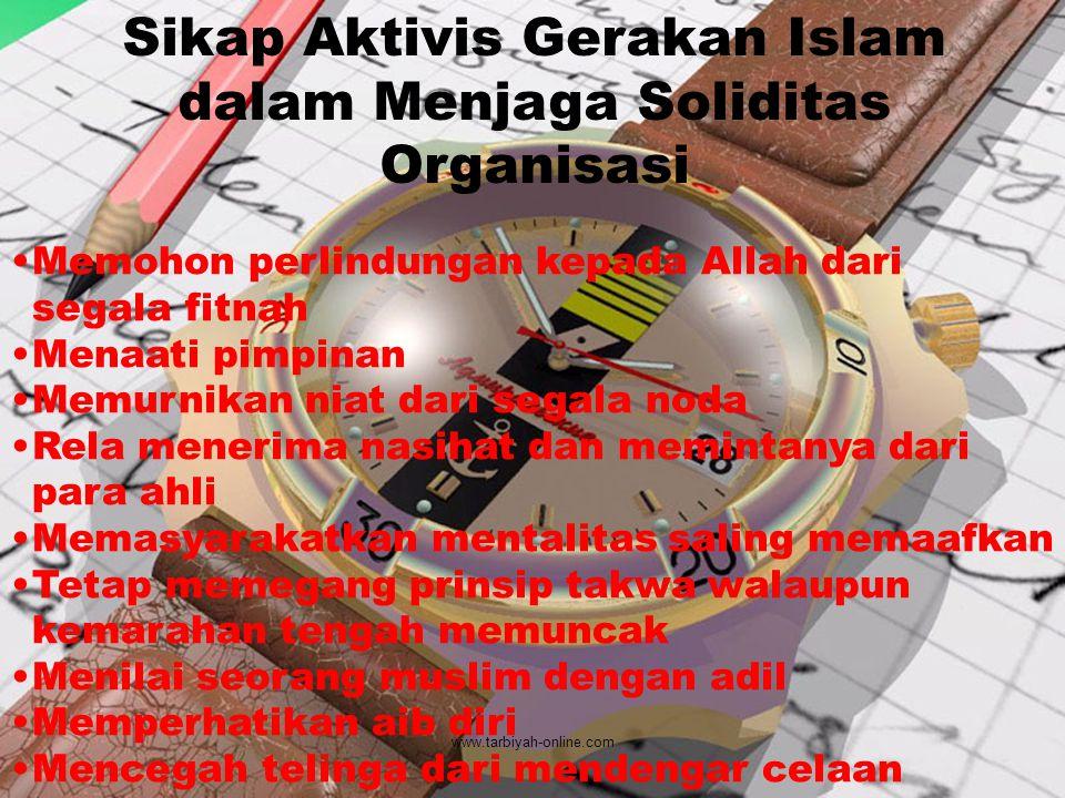 Sikap Aktivis Gerakan Islam dalam Menjaga Soliditas Organisasi