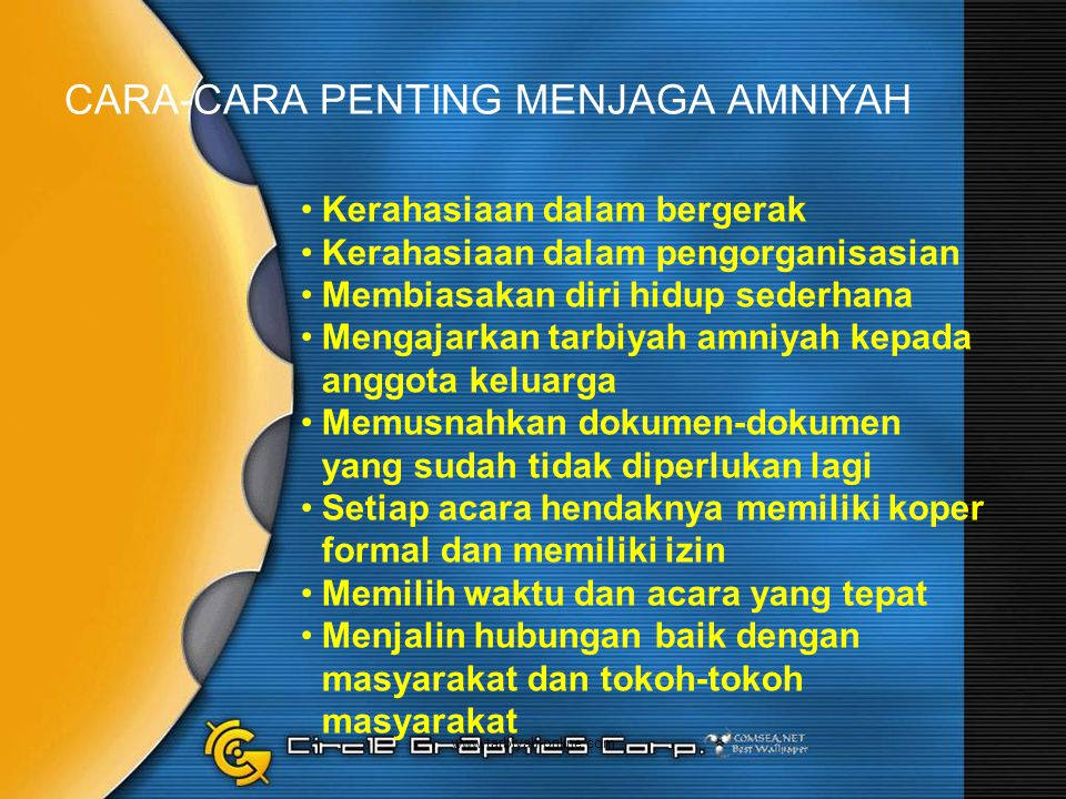 CARA-CARA PENTING MENJAGA AMNIYAH