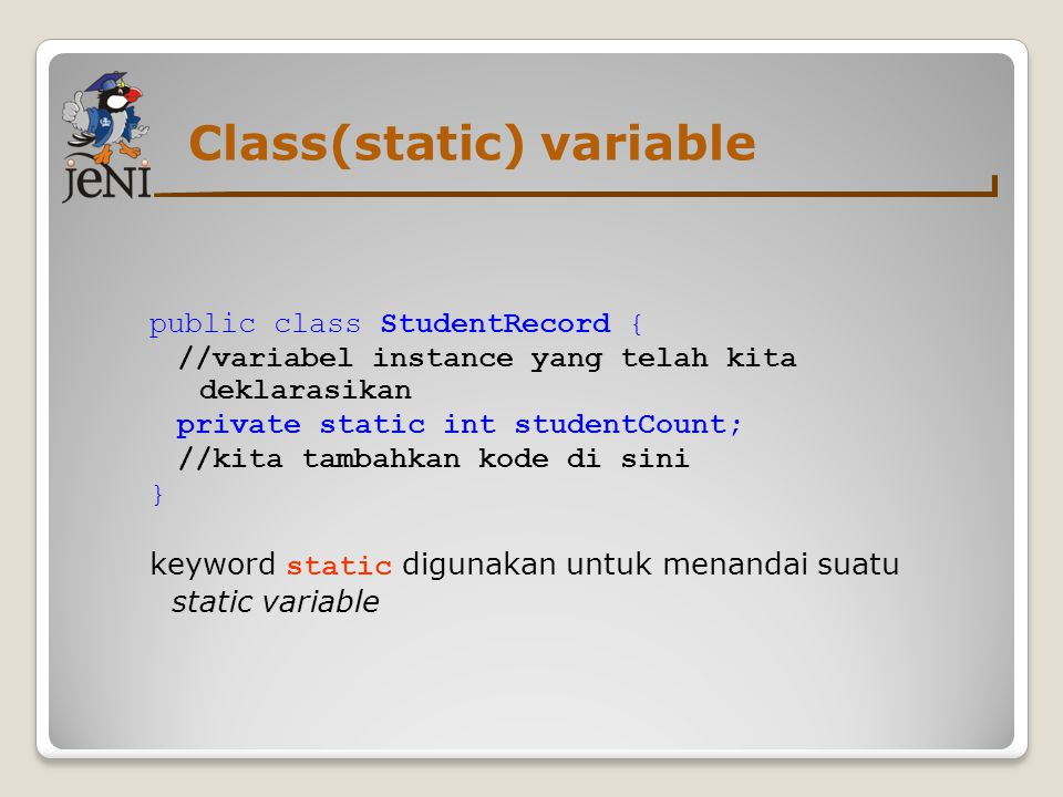 Class(static) variable