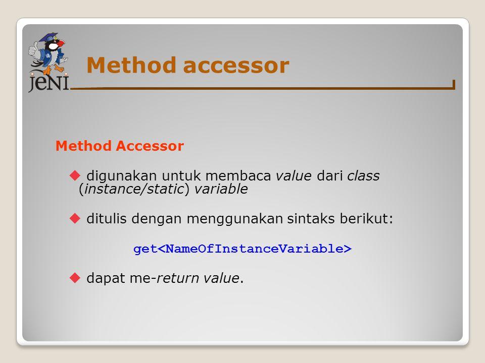 Method accessor Method Accessor