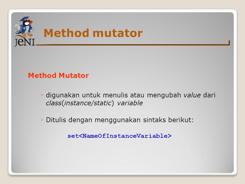 Method mutator Method Mutator