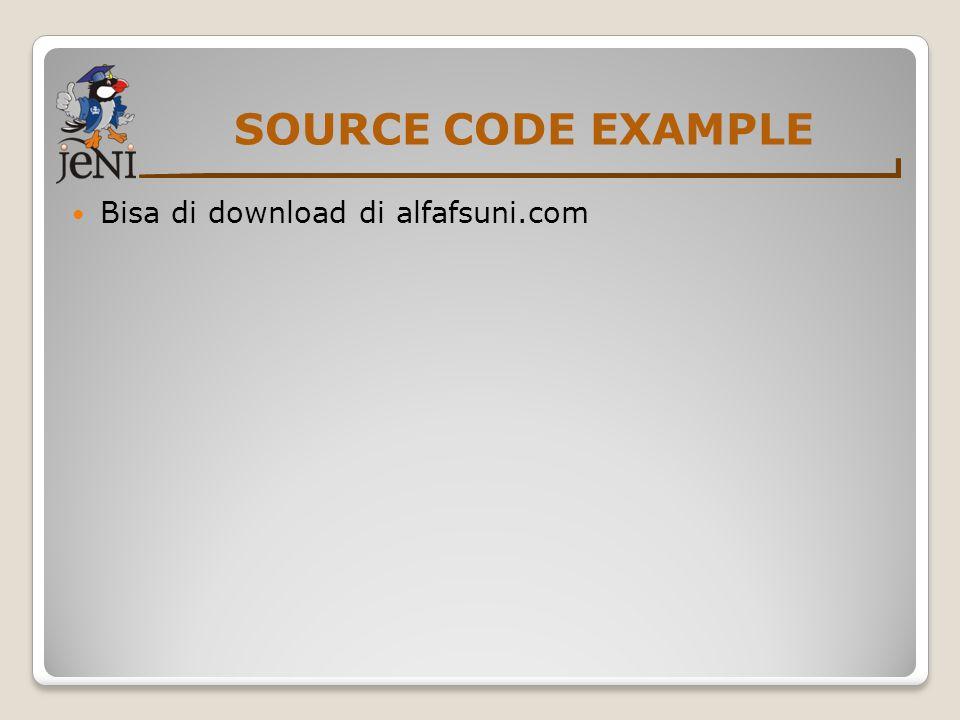 SOURCE CODE EXAMPLE Bisa di download di alfafsuni.com
