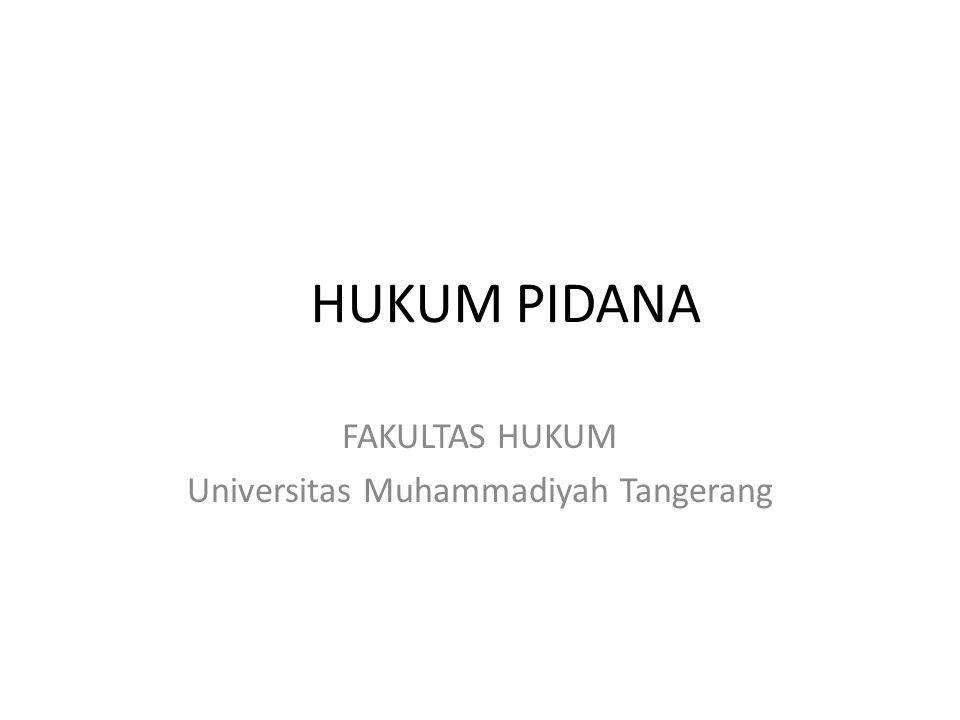 FAKULTAS HUKUM Universitas Muhammadiyah Tangerang