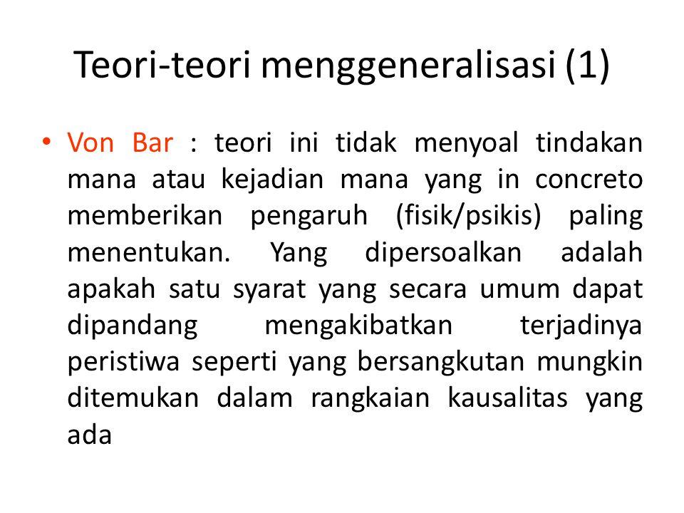Teori-teori menggeneralisasi (1)