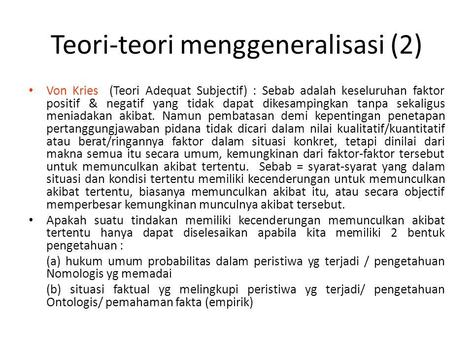 Teori-teori menggeneralisasi (2)