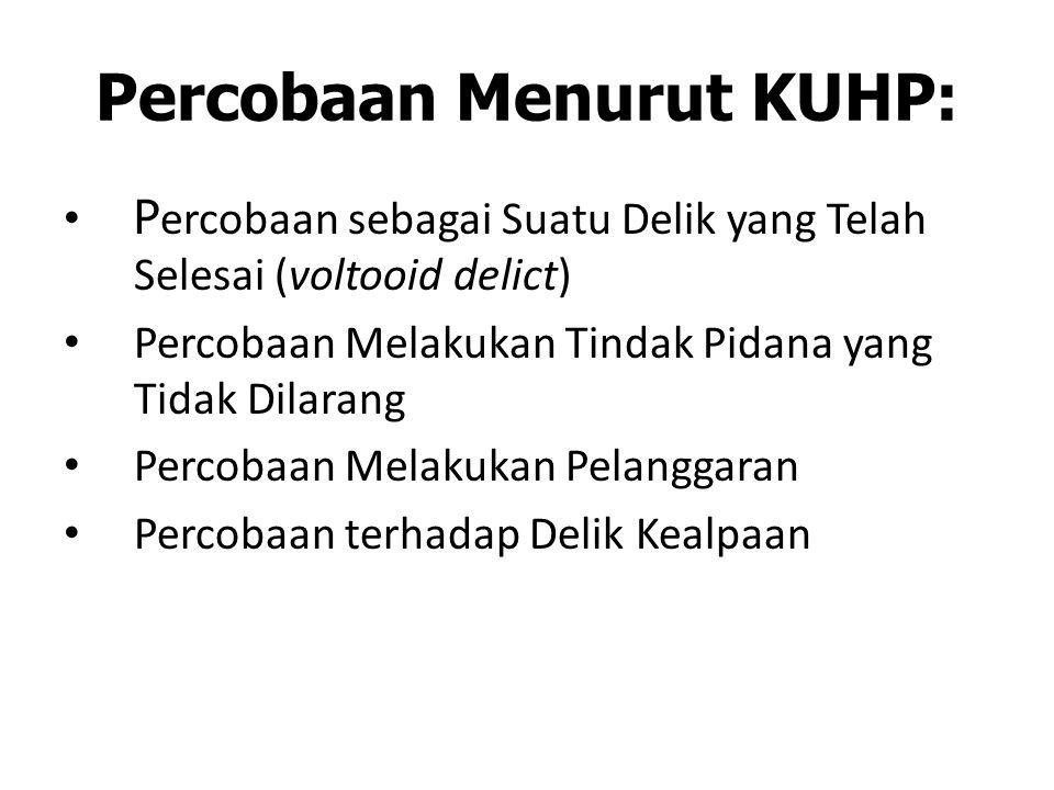 Percobaan Menurut KUHP: