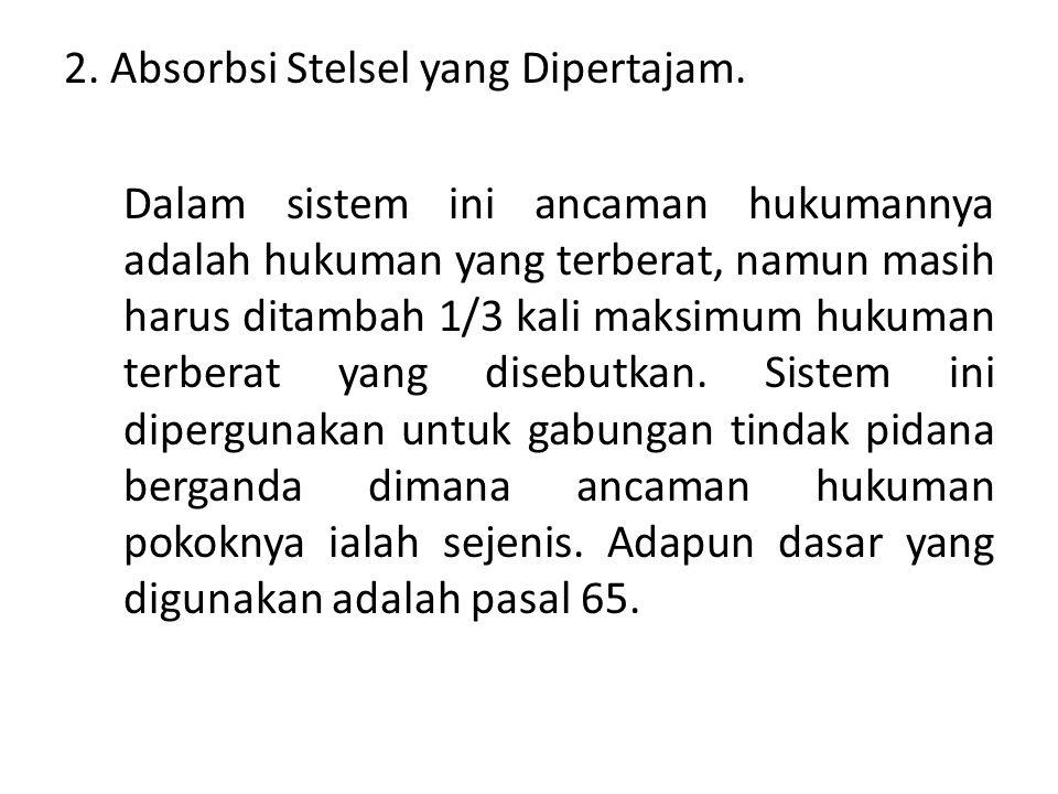 2. Absorbsi Stelsel yang Dipertajam.