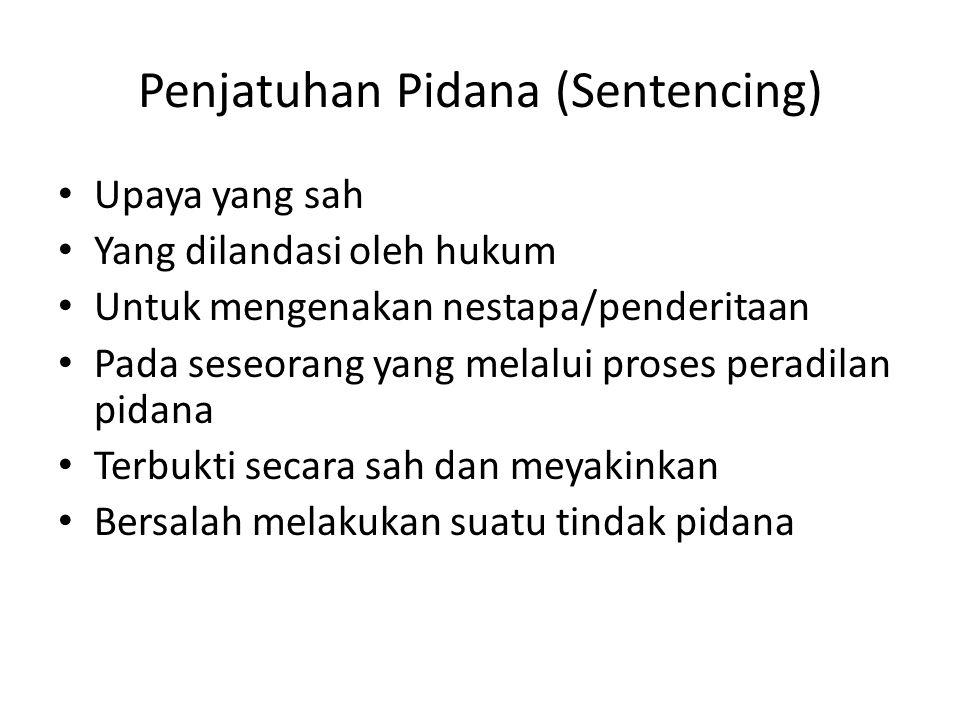 Penjatuhan Pidana (Sentencing)