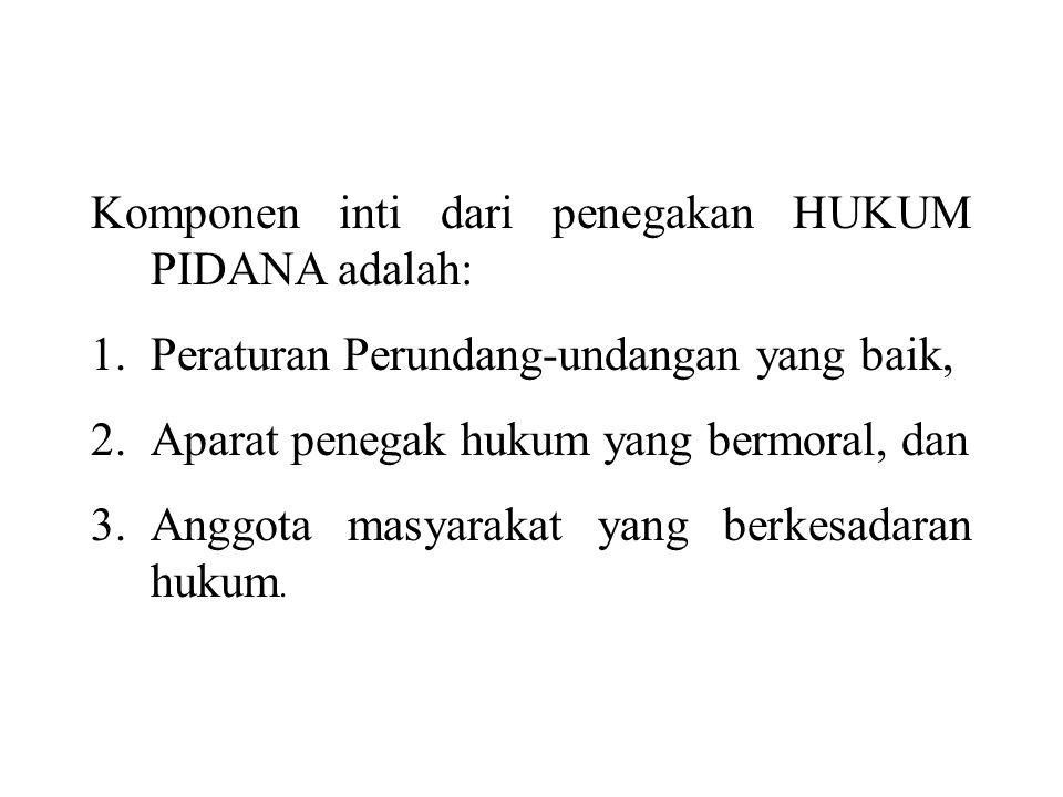 Komponen inti dari penegakan HUKUM PIDANA adalah: