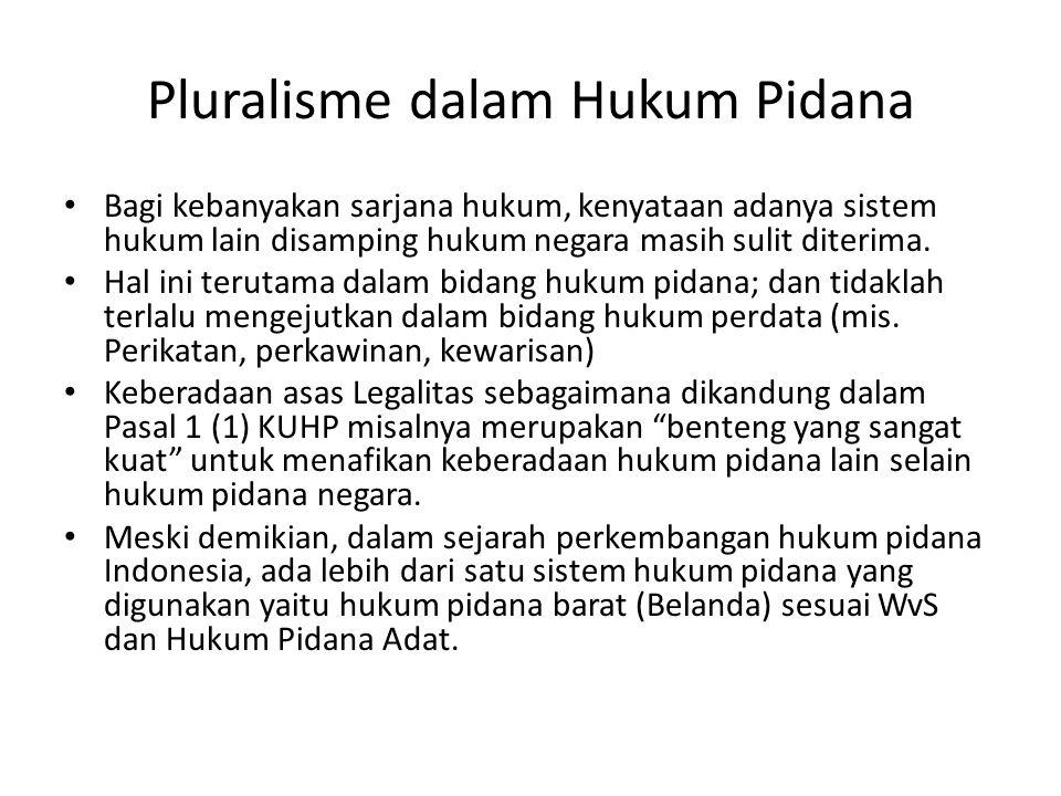 Pluralisme dalam Hukum Pidana