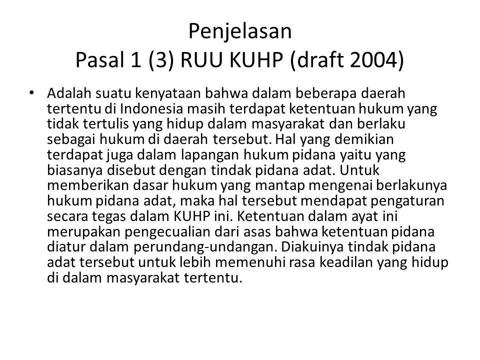 Penjelasan Pasal 1 (3) RUU KUHP (draft 2004)