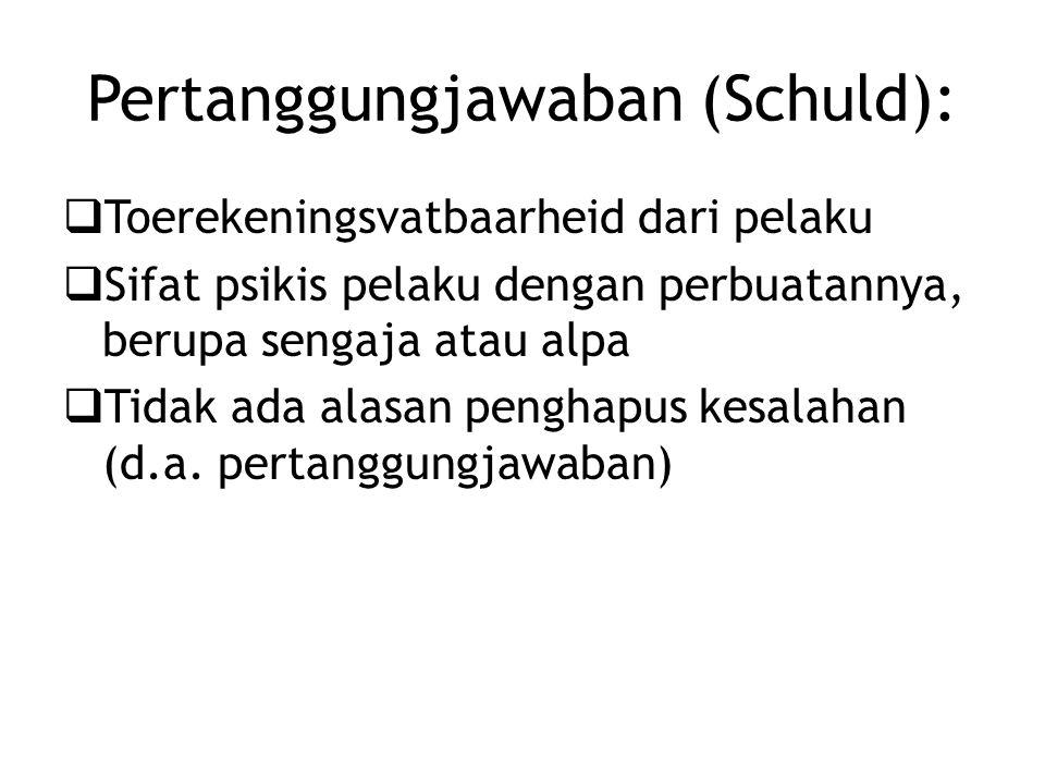 Pertanggungjawaban (Schuld):