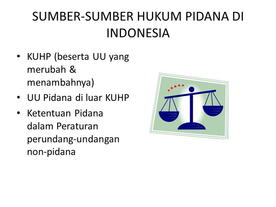 SUMBER-SUMBER HUKUM PIDANA DI INDONESIA