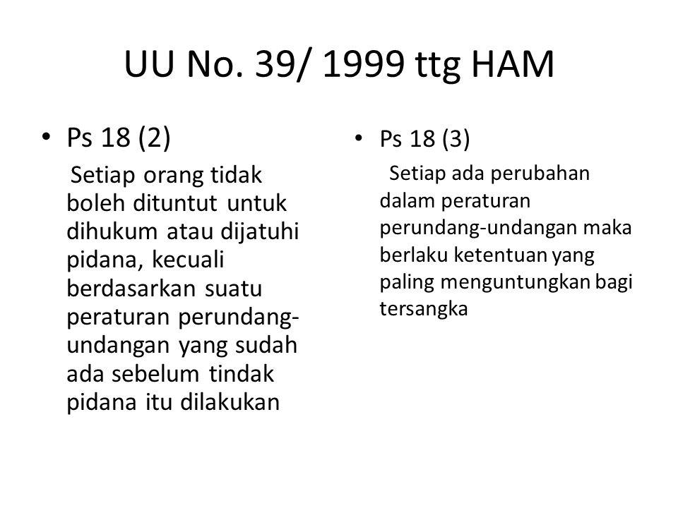 UU No. 39/ 1999 ttg HAM Ps 18 (2)