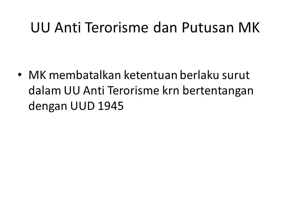 UU Anti Terorisme dan Putusan MK
