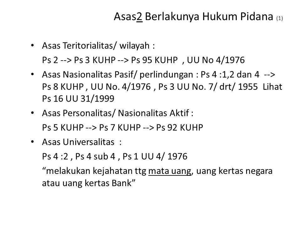 Asas2 Berlakunya Hukum Pidana (1)