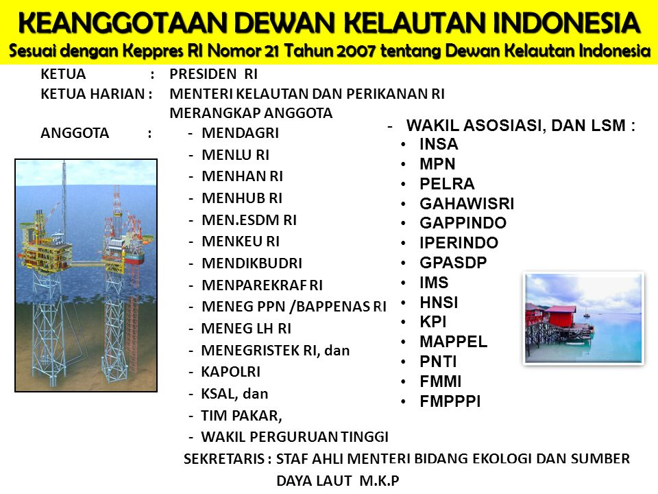 KEANGGOTAAN DEWAN KELAUTAN INDONESIA