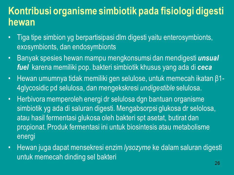 Kontribusi organisme simbiotik pada fisiologi digesti hewan
