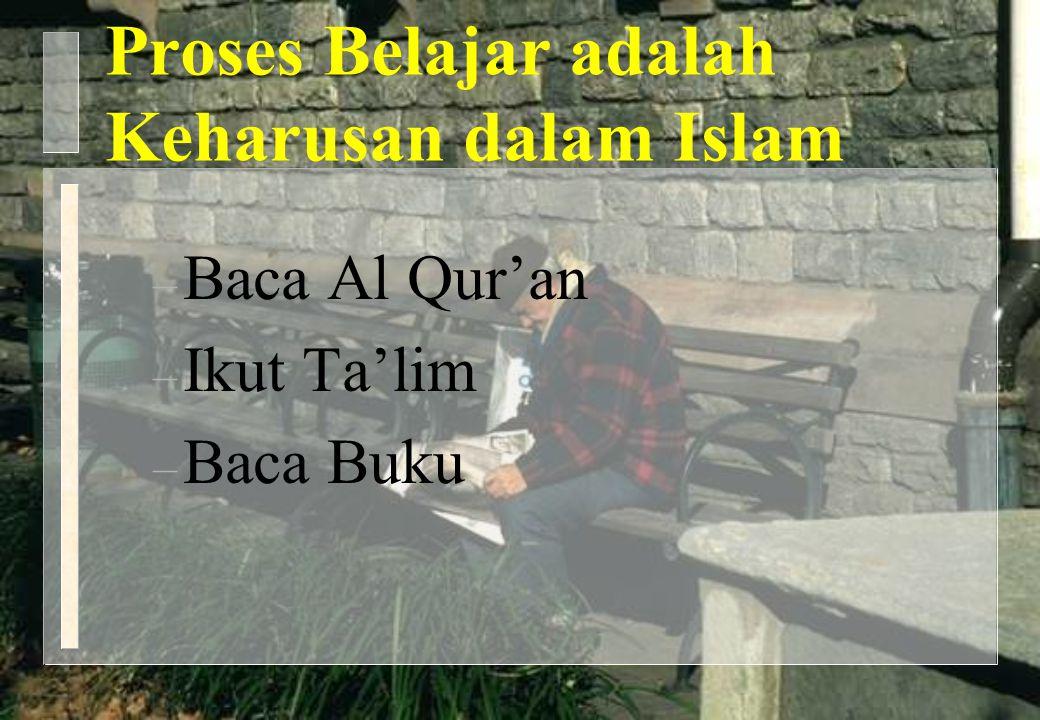 Proses Belajar adalah Keharusan dalam Islam