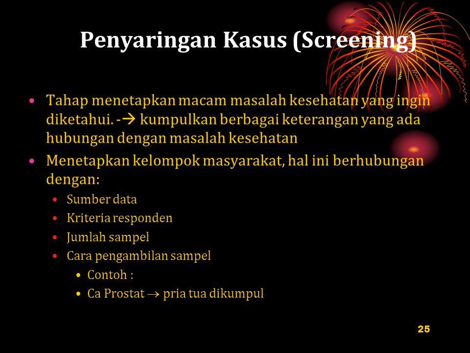 Penyaringan Kasus (Screening)