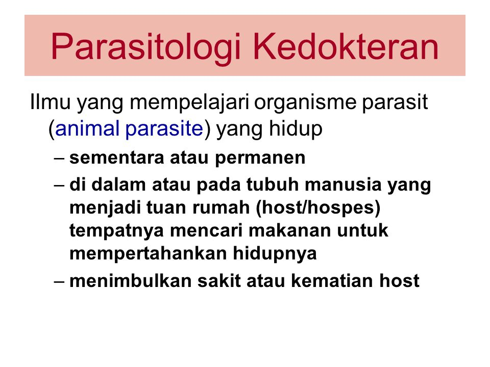 Parasitologi Kedokteran