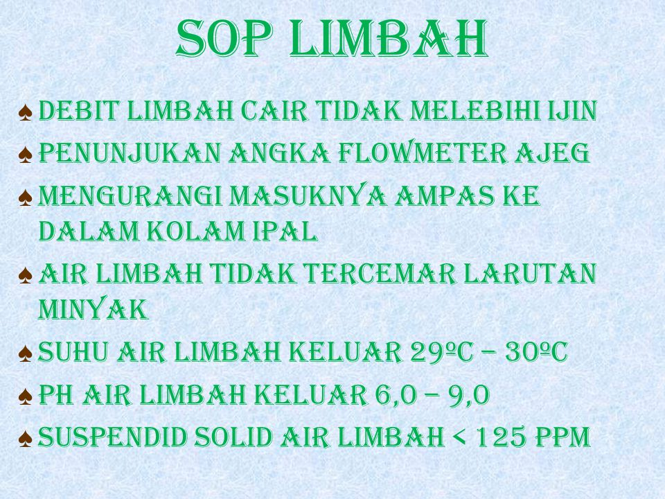 SOP LIMBAH DEBIT LIMBAH CAIR TIDAK MELEBIHI IJIN
