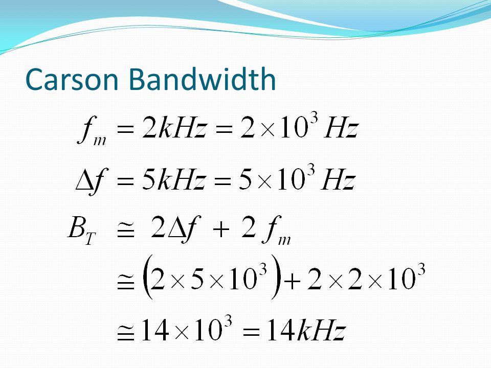 Carson Bandwidth