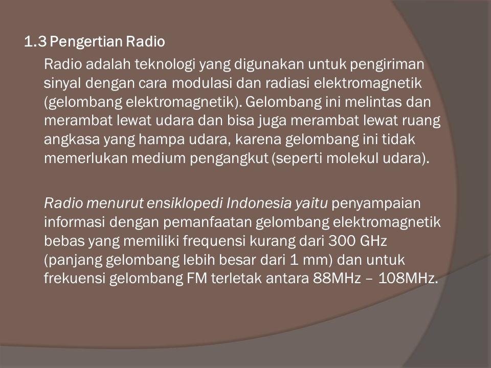 1.3 Pengertian Radio