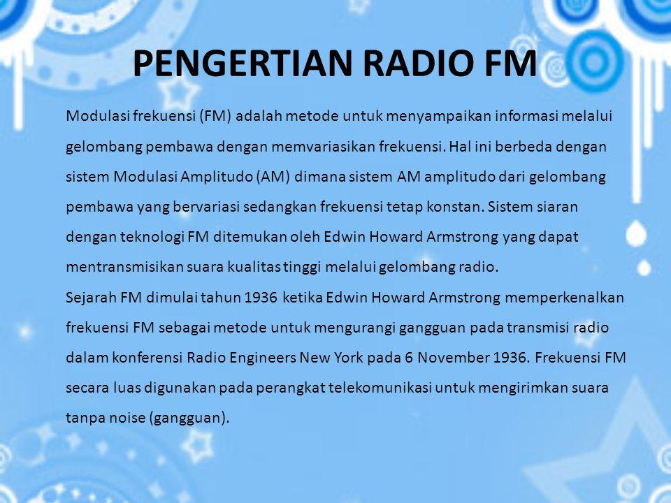 PENGERTIAN RADIO FM