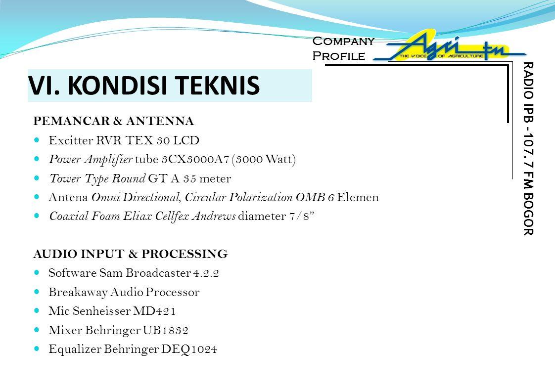 VI. KONDISI TEKNIS RADIO IPB -107.7 FM BOGOR PEMANCAR & ANTENNA