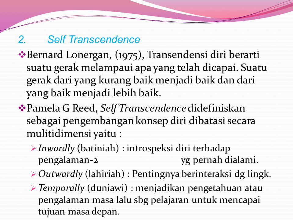 2. Self Transcendence