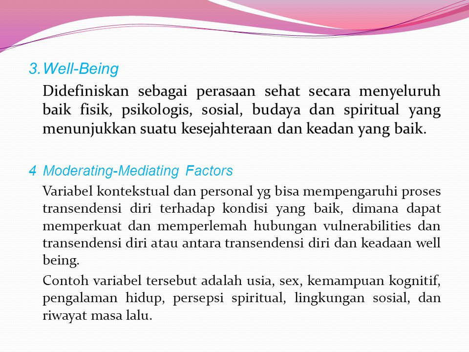 3. Well-Being