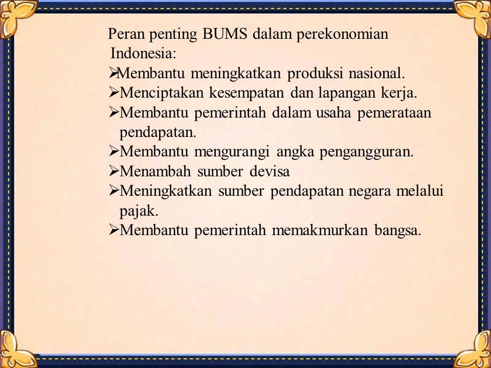 Peran penting BUMS dalam perekonomian Indonesia: