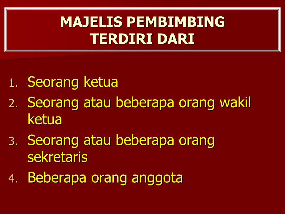 MAJELIS PEMBIMBING TERDIRI DARI