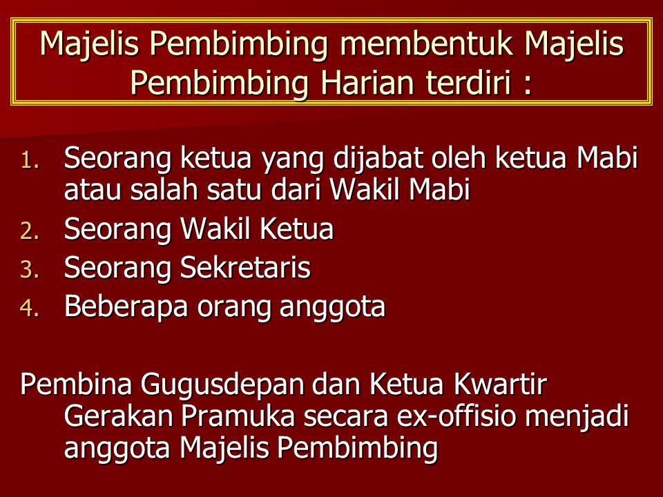 Majelis Pembimbing membentuk Majelis Pembimbing Harian terdiri :