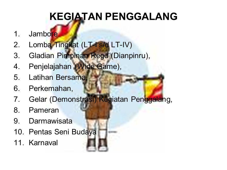 KEGIATAN PENGGALANG Jambore Lomba Tingkat (LT-I s/d LT-IV)