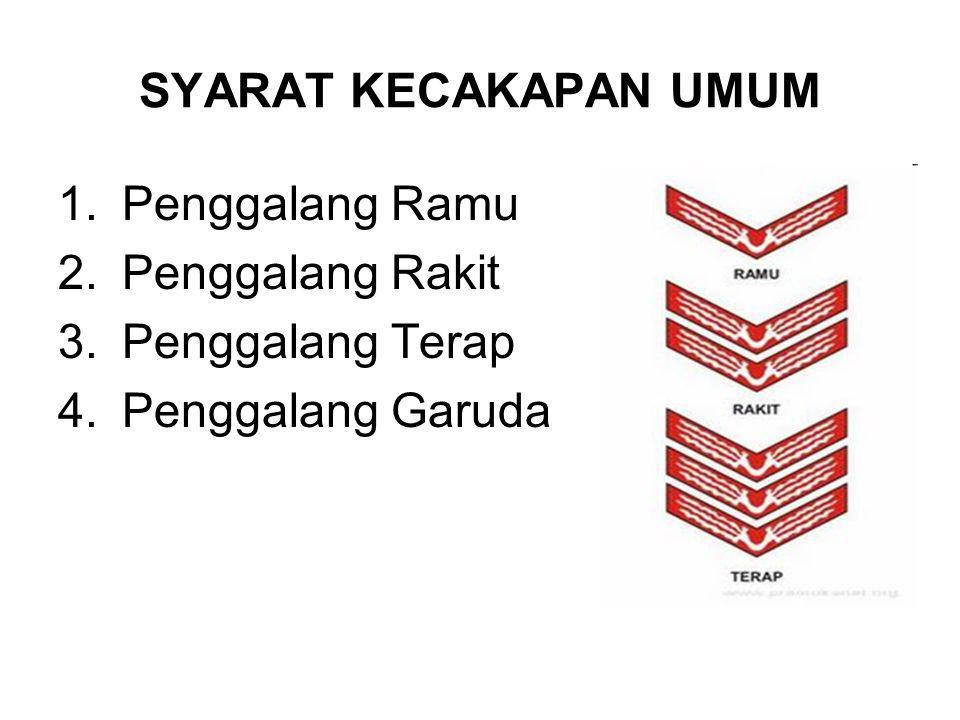 SYARAT KECAKAPAN UMUM Penggalang Ramu Penggalang Rakit Penggalang Terap Penggalang Garuda