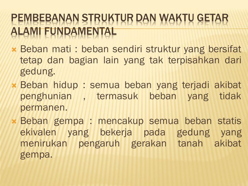 Pembebanan struktur dan waktu getar alami fundamental