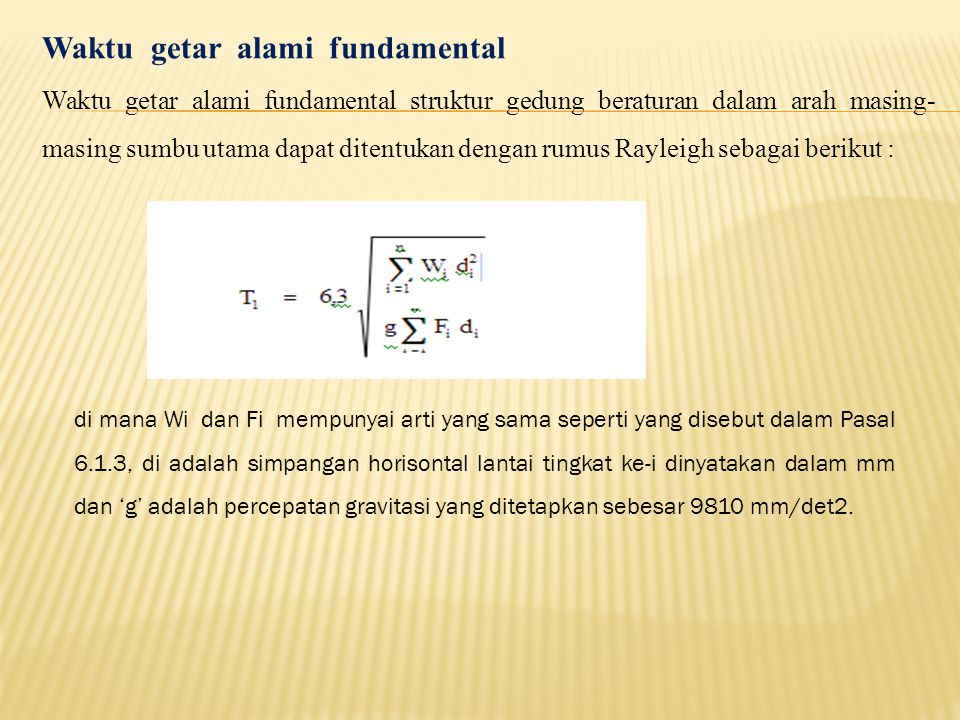 Waktu getar alami fundamental