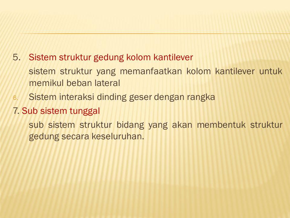 5. Sistem struktur gedung kolom kantilever