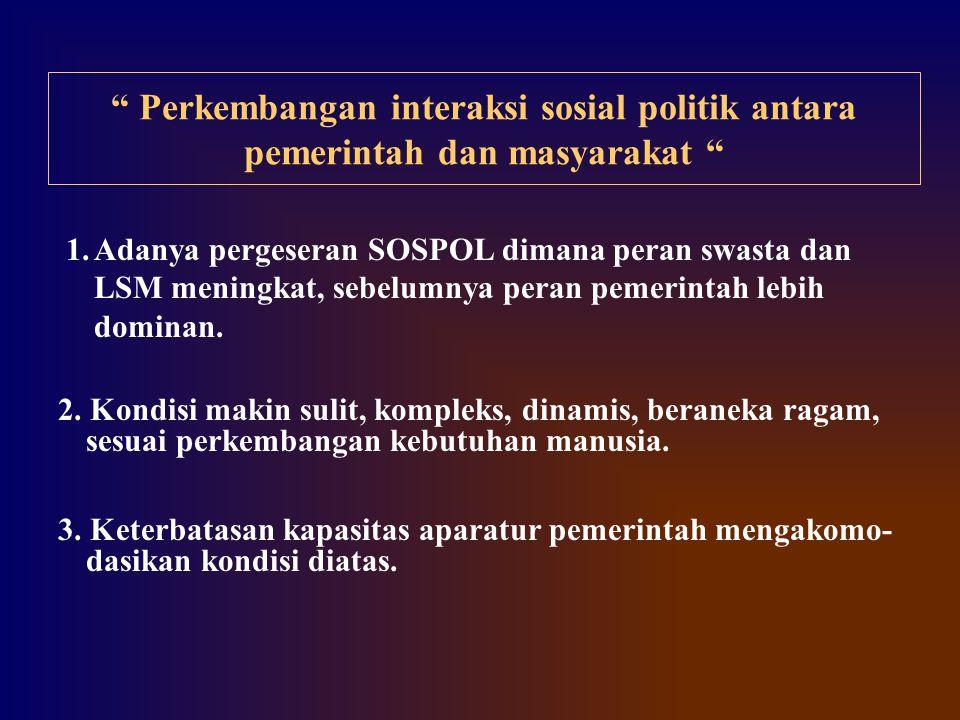 Perkembangan interaksi sosial politik antara pemerintah dan masyarakat