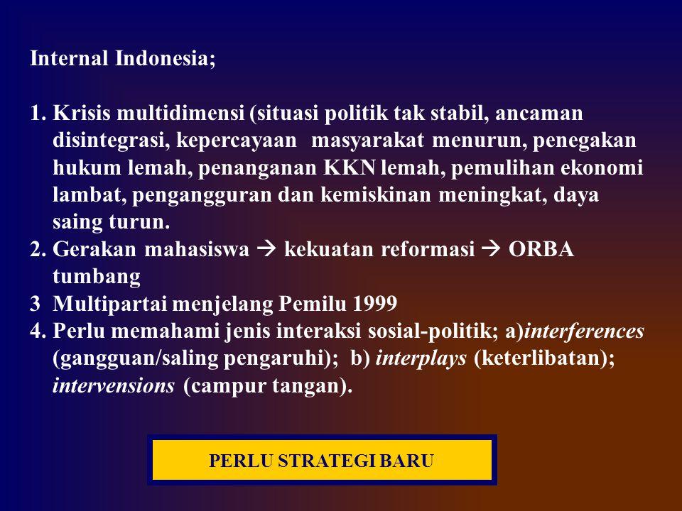 1. Krisis multidimensi (situasi politik tak stabil, ancaman