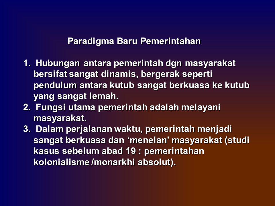 Paradigma Baru Pemerintahan