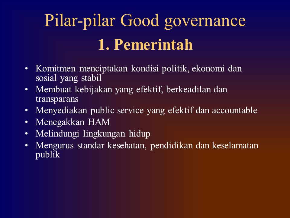 Pilar-pilar Good governance