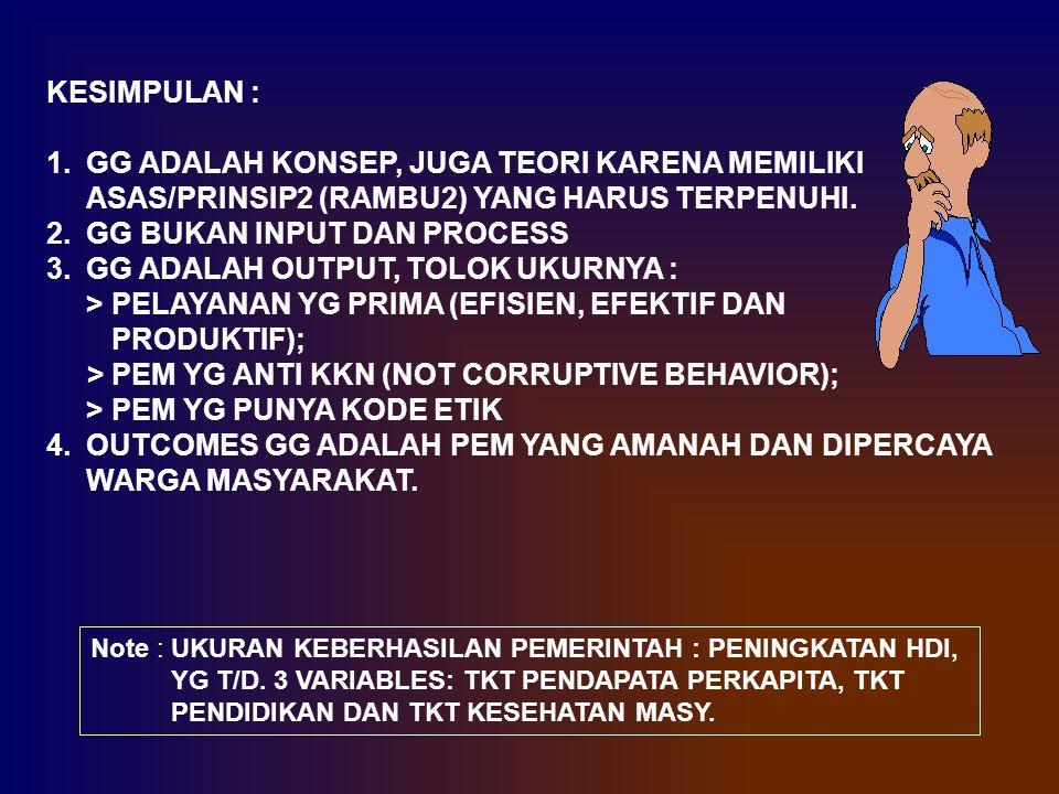 GG BUKAN INPUT DAN PROCESS GG ADALAH OUTPUT, TOLOK UKURNYA :