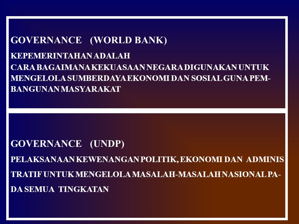 GOVERNANCE (WORLD BANK)