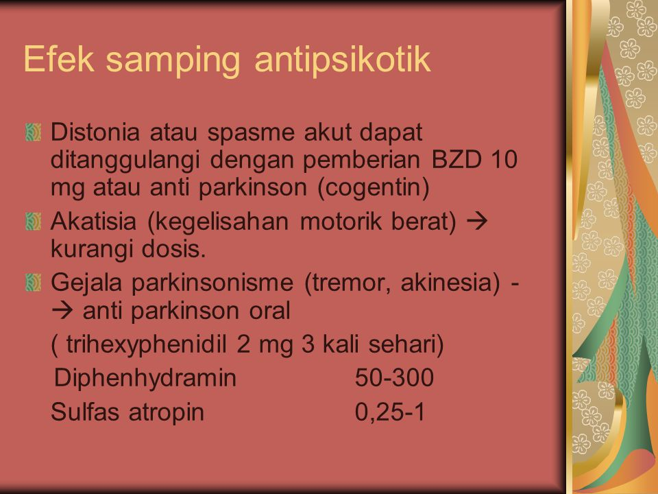 Efek samping antipsikotik
